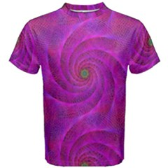 Pink Abstract Background Curl Men s Cotton Tee