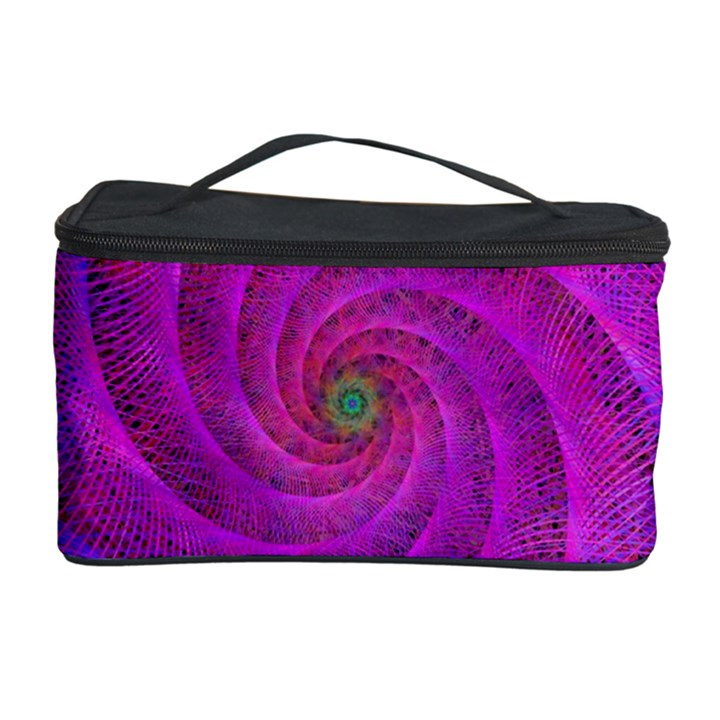 Pink Abstract Background Curl Cosmetic Storage Case