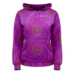 Pink Abstract Background Curl Women s Pullover Hoodie