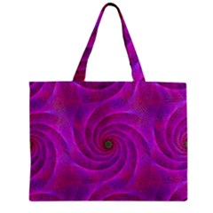 Pink Abstract Background Curl Zipper Mini Tote Bag