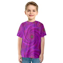 Pink Abstract Background Curl Kids  Sport Mesh Tee