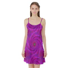 Pink Abstract Background Curl Satin Night Slip