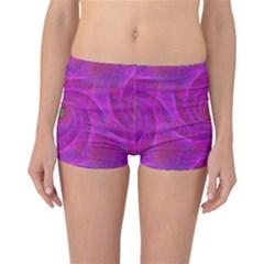 Pink Abstract Background Curl Reversible Boyleg Bikini Bottoms