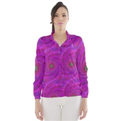 Pink Abstract Background Curl Wind Breaker (women)