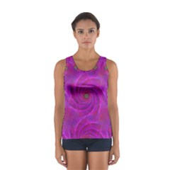 Pink Abstract Background Curl Sport Tank Top