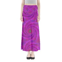 Pink Abstract Background Curl Full Length Maxi Skirt