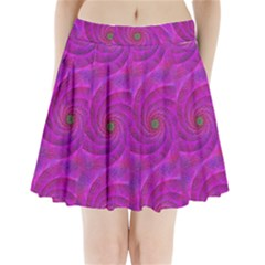 Pink Abstract Background Curl Pleated Mini Skirt