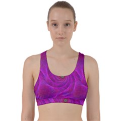 Pink Abstract Background Curl Back Weave Sports Bra