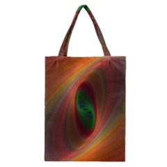 Ellipse Fractal Orange Background Classic Tote Bag
