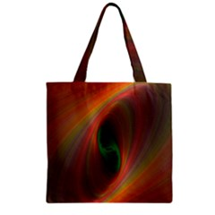 Ellipse Fractal Orange Background Zipper Grocery Tote Bag