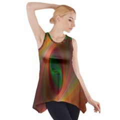 Ellipse Fractal Orange Background Side Drop Tank Tunic