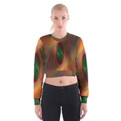 Ellipse Fractal Orange Background Cropped Sweatshirt