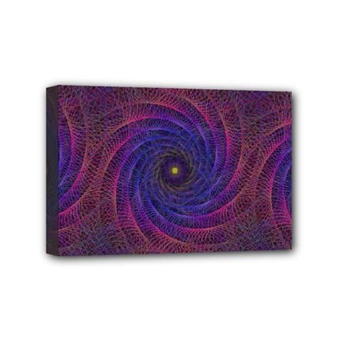 Pattern Seamless Repeat Spiral Mini Canvas 6  X 4