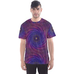 Pattern Seamless Repeat Spiral Men s Sports Mesh Tee
