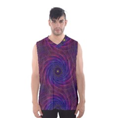 Pattern Seamless Repeat Spiral Men s Basketball Tank Top