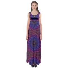 Pattern Seamless Repeat Spiral Empire Waist Maxi Dress