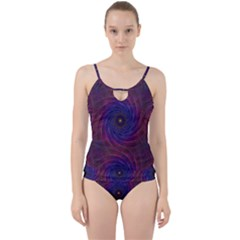 Pattern Seamless Repeat Spiral Cut Out Top Tankini Set