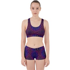 Pattern Seamless Repeat Spiral Work It Out Sports Bra Set