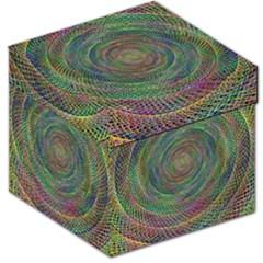 Spiral Spin Background Artwork Storage Stool 12
