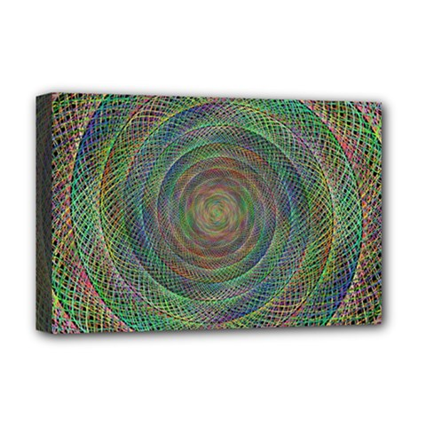 Spiral Spin Background Artwork Deluxe Canvas 18  X 12
