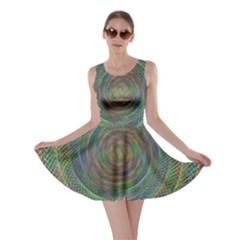 Spiral Spin Background Artwork Skater Dress