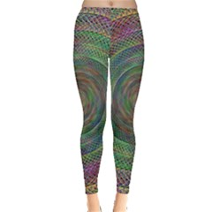 Spiral Spin Background Artwork Leggings