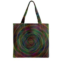 Spiral Spin Background Artwork Grocery Tote Bag