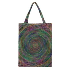 Spiral Spin Background Artwork Classic Tote Bag
