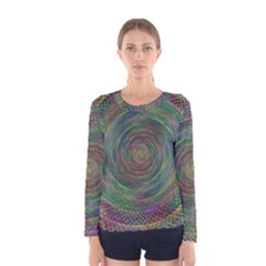 Spiral Spin Background Artwork Women s Long Sleeve Tee
