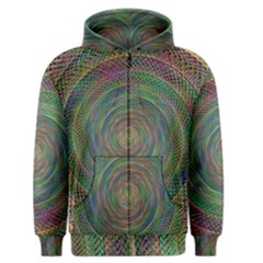 Spiral Spin Background Artwork Men s Zipper Hoodie