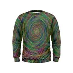 Spiral Spin Background Artwork Kids  Sweatshirt
