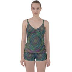 Spiral Spin Background Artwork Tie Front Two Piece Tankini