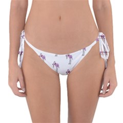 Sweet Flamingo Pattern Reversible Bikini Bottom
