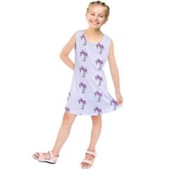 Sweet Flamingo Pattern Kids  Tunic Dress