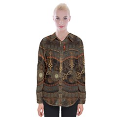 Steampunk, Awesome Clocks Womens Long Sleeve Shirt