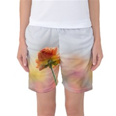 Single Flower Photo Women s Basketball Shorts