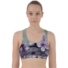 Branch Flowering Cherry Spring  Back Weave Sports Bra