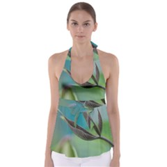 Leaves Grass Plants  Babydoll Tankini Top