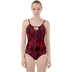 Abstract 2 Cut Out Top Tankini Set