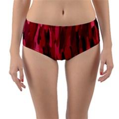 Abstract 3 Reversible Mid Waist Bikini Bottoms