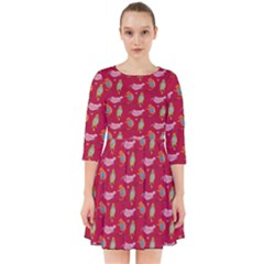 Fat Cat Red Smock Dress