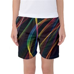 Rainbow Ribbons Women s Basketball Shorts