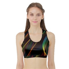 Rainbow Ribbons Sports Bra With Border