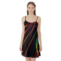 Rainbow Ribbons Satin Night Slip