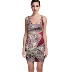 Morocco Motif Pattern Travel Bodycon Dress