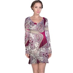 Morocco Motif Pattern Travel Long Sleeve Nightdress