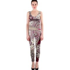 Morocco Motif Pattern Travel Onepiece Catsuit