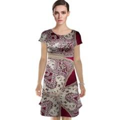 Morocco Motif Pattern Travel Cap Sleeve Nightdress