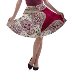 Morocco Motif Pattern Travel A Line Skater Skirt