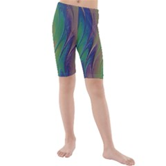 Texture Abstract Background Kids  Mid Length Swim Shorts